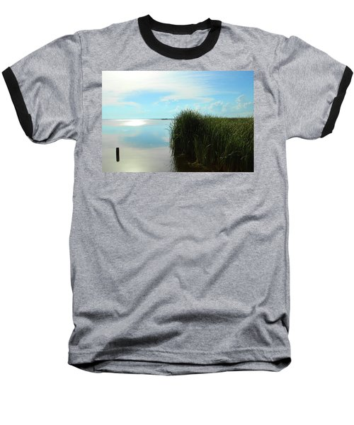 Marshland Baseball T-Shirt by David Stasiak