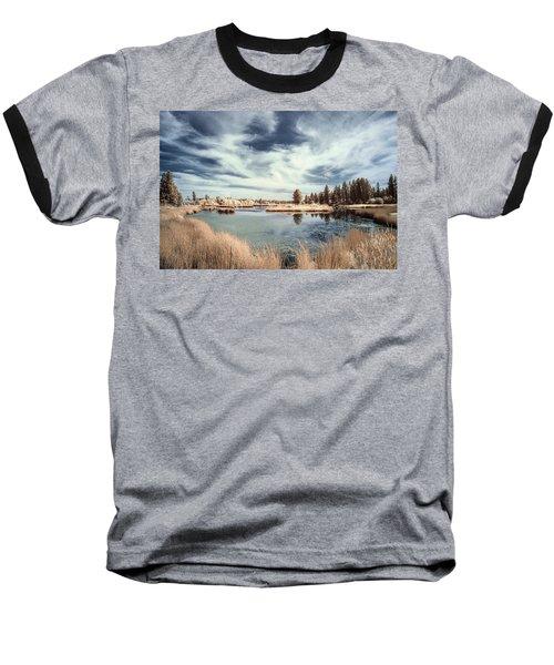 Marshlands In Washington Baseball T-Shirt by Jon Glaser