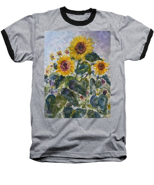 Martha's Sunflowers Baseball T-Shirt