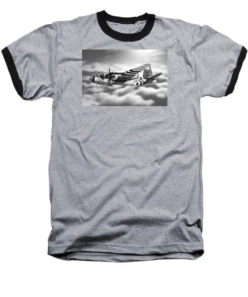 Martin B-26 Marauder Drawing Baseball T-Shirt by Douglas Castleman