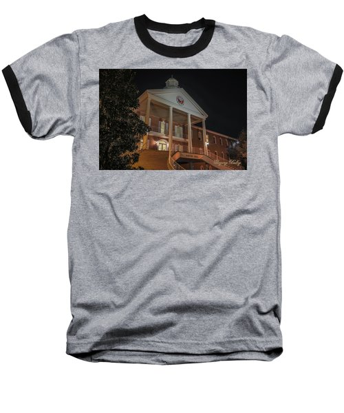 Baseball T-Shirt featuring the photograph Martin Hall Night 01 by Gregory Daley  PPSA