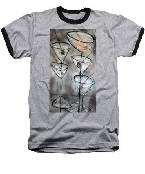 Martini Time Baseball T-Shirt