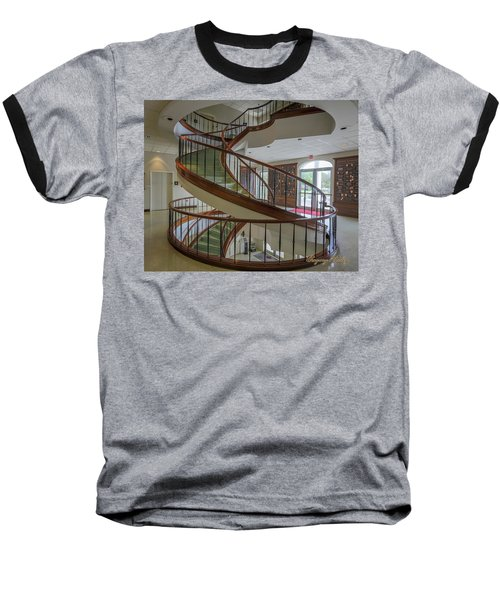 Marttin Hall Spiral Stairway 2 Baseball T-Shirt