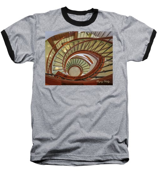Baseball T-Shirt featuring the photograph Marttin Hall Spiral Stairway by Gregory Daley  PPSA