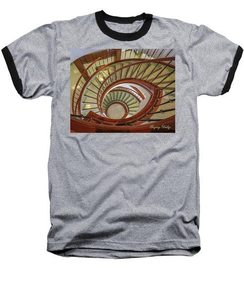 Marttin Hall Spiral Stairway Baseball T-Shirt