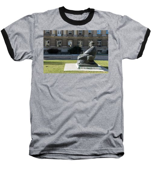 Marulic Square Zagreb  Baseball T-Shirt by Steven Richman