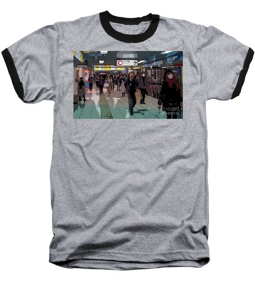 Baseball T-Shirt featuring the photograph Marunouchi Line, Tokyo Metro Japan Poster by Perry Rodriguez