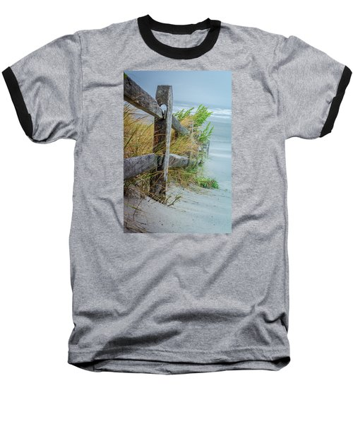 Marvel Of An Ordinary Fence Baseball T-Shirt by Patrice Zinck