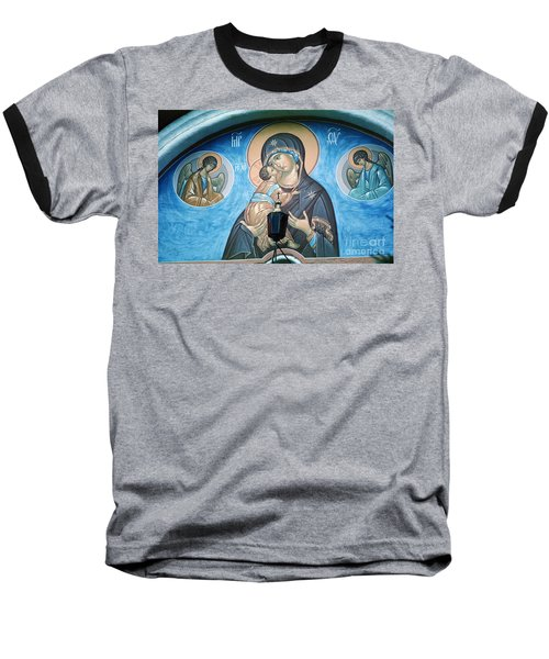 Mary Magdelena Jesus Christ Angels Trinity Lavra Baseball T-Shirt by Wernher Krutein