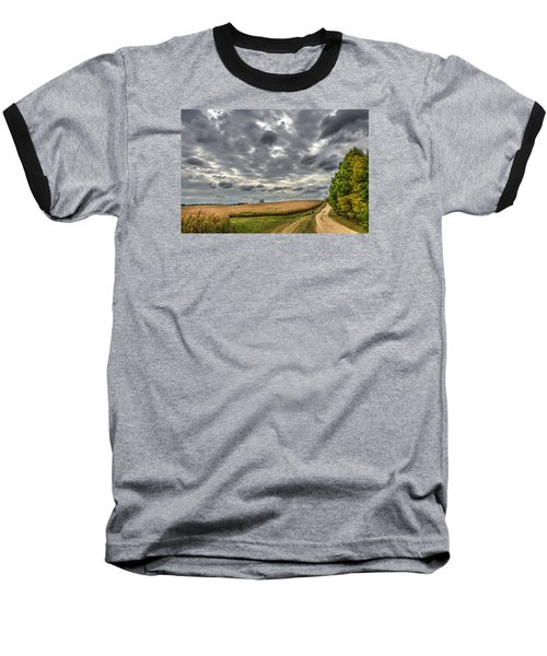 Maryland Country Road In Autumn At Twilight Baseball T-Shirt