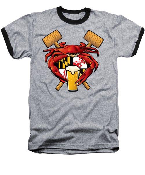 Maryland Crab Feast Crest Baseball T-Shirt