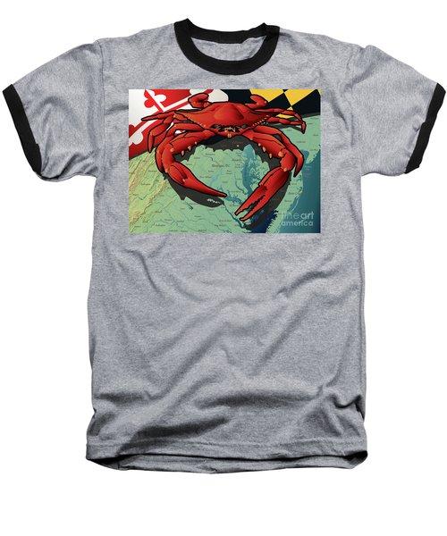 Maryland Red Crab Baseball T-Shirt