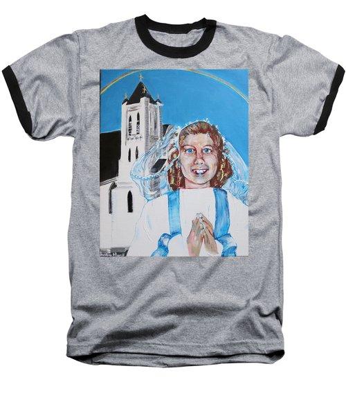 Mary's First Communion Baseball T-Shirt
