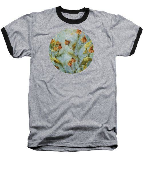 Baseball T-Shirt featuring the painting Mary's Garden by Mary Wolf