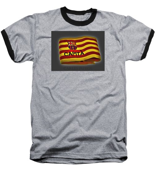 Baseball T-Shirt featuring the photograph Mas Que Un Capitan - Carles Puyol by Juergen Weiss