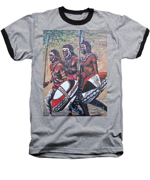 Blaa Kattproduksjoner       Masaai Warriors Baseball T-Shirt