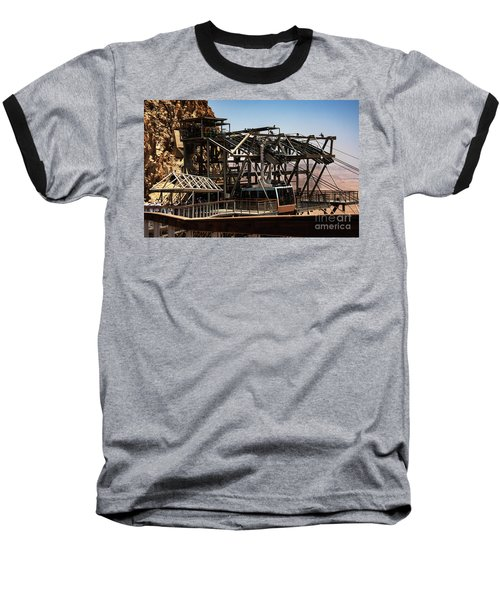 Baseball T-Shirt featuring the photograph Masada Lift by Mae Wertz
