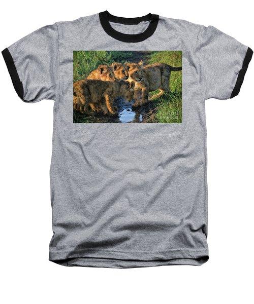 Masai Mara Lion Cubs Baseball T-Shirt