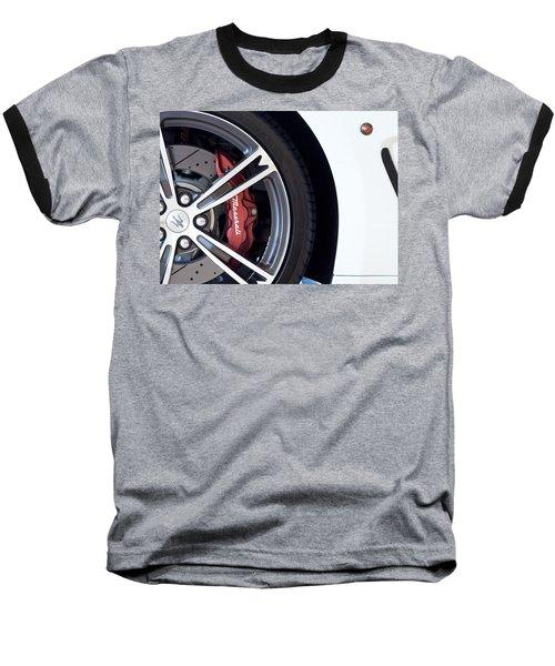 Maserati Wheel White Baseball T-Shirt