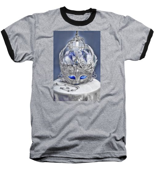 Mask Still Life Blue Baseball T-Shirt