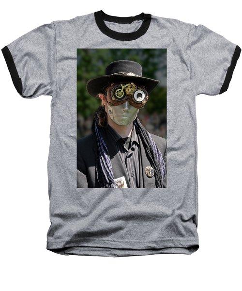 Masked Man - Steampunk Baseball T-Shirt by Betty Denise
