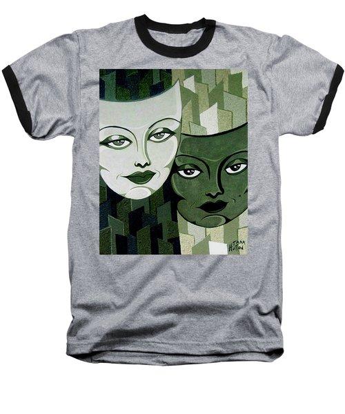 Masks Verde Baseball T-Shirt by Tara Hutton