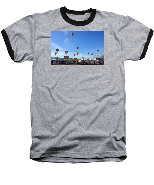 Baseball T-Shirt featuring the photograph Mass Ascension Taos Balloon Festival by Brenda Pressnall