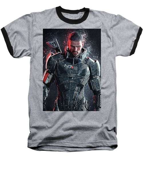 Mass Effect Baseball T-Shirt by Taylan Apukovska