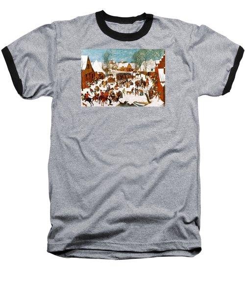 Massacre Of The Innocents Baseball T-Shirt by Pieter Bruegel the Elder