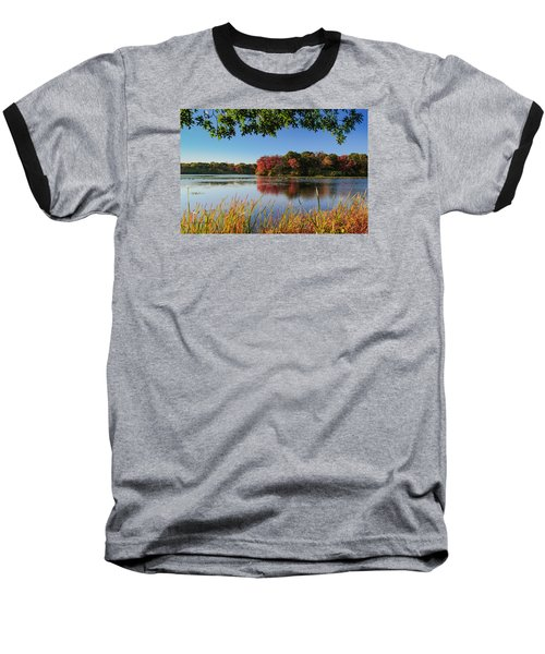 Baseball T-Shirt featuring the photograph Massapequa Nature Preserve by Jose Oquendo