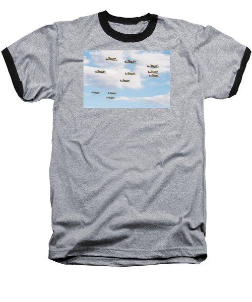 Massed Spitfires Baseball T-Shirt