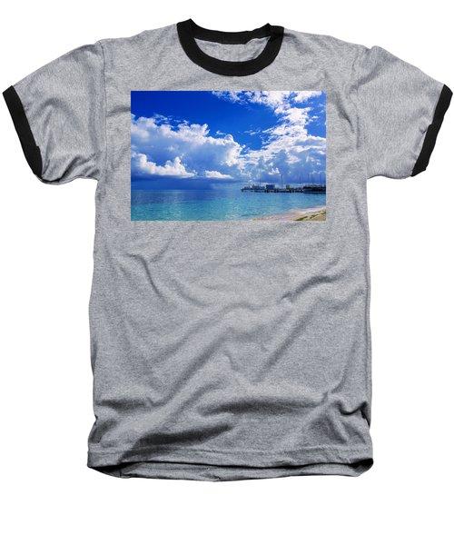 Massive Caribbean Clouds Baseball T-Shirt