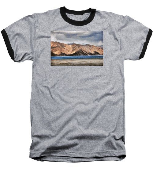 Massive Mountains And A Beautiful Lake Baseball T-Shirt