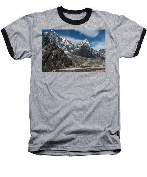 Baseball T-Shirt featuring the photograph Massive Tabuche Peak Nepal by Mike Reid