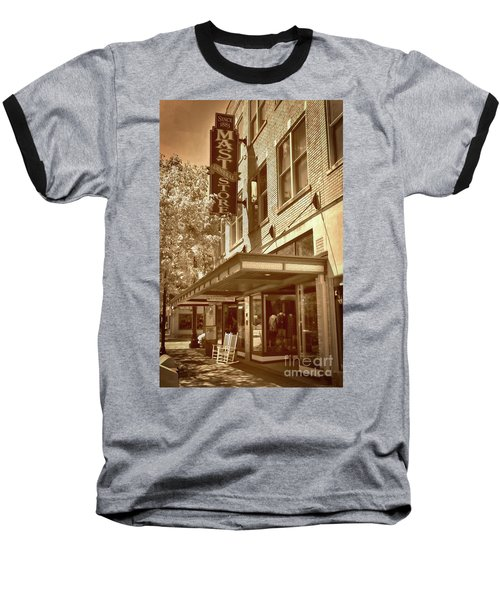 Baseball T-Shirt featuring the photograph Mast General Store by Skip Willits