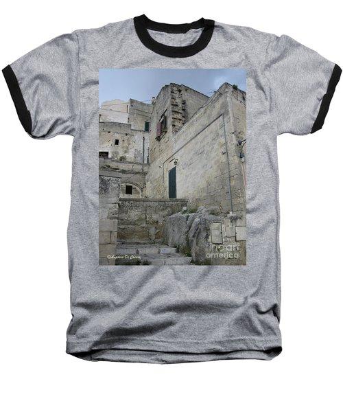Matera Houses Baseball T-Shirt
