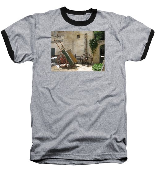 Matera Old Horsecart Italy Baseball T-Shirt