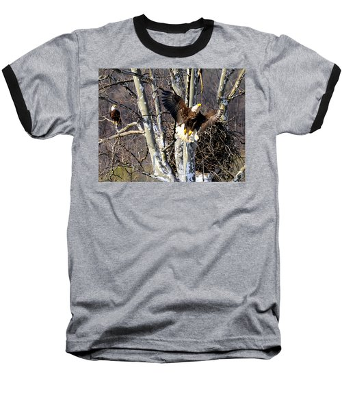Mating Pair At Nest Baseball T-Shirt