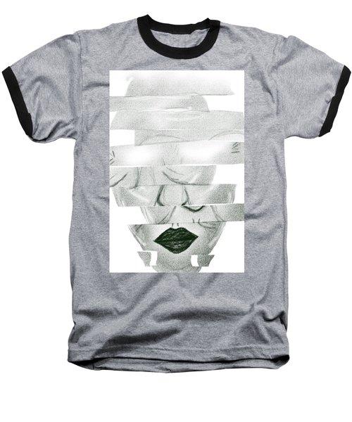 Matrix  Woman Face Break To Pieces Baseball T-Shirt