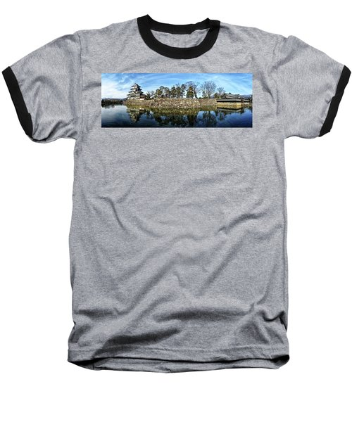 Matsumoto Castle Panorama Baseball T-Shirt