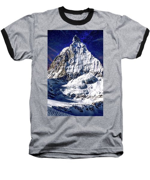 Matterhorn At Twilight Baseball T-Shirt