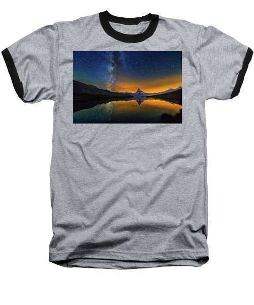 Matterhorn By Night Baseball T-Shirt