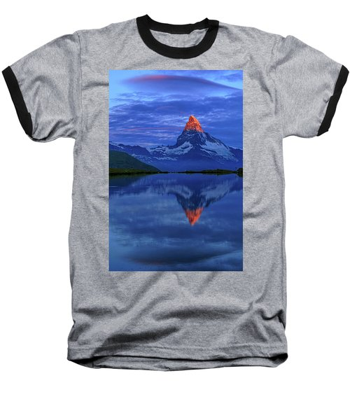 Matterhorn Sunrise Baseball T-Shirt