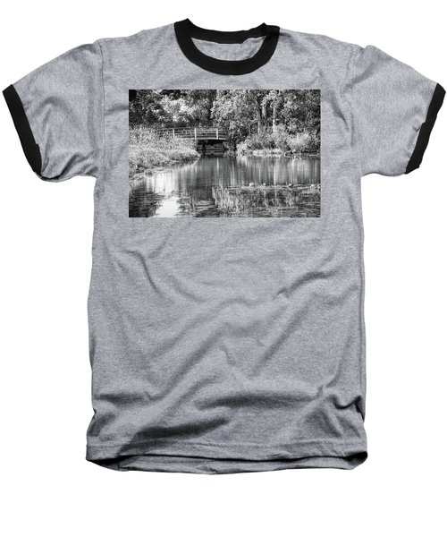 Matthaei Botanical Gardens Black And White Baseball T-Shirt