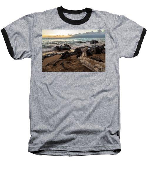 Maui Beach Sunset Baseball T-Shirt