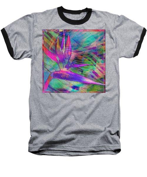 Maui Bird Of Paradise Baseball T-Shirt