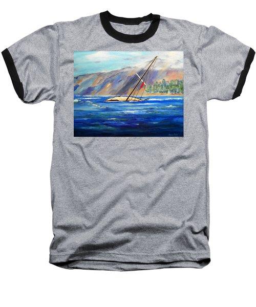 Maui Boat Baseball T-Shirt