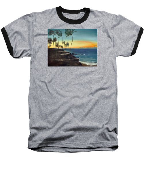 Baseball T-Shirt featuring the painting Maui by Carol Sweetwood