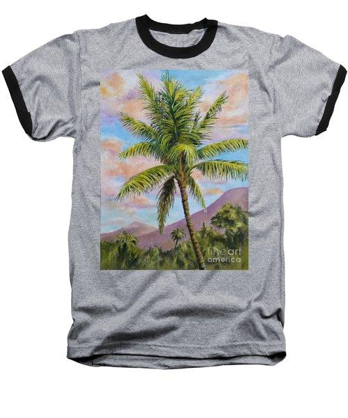 Maui Palm Baseball T-Shirt by William Reed