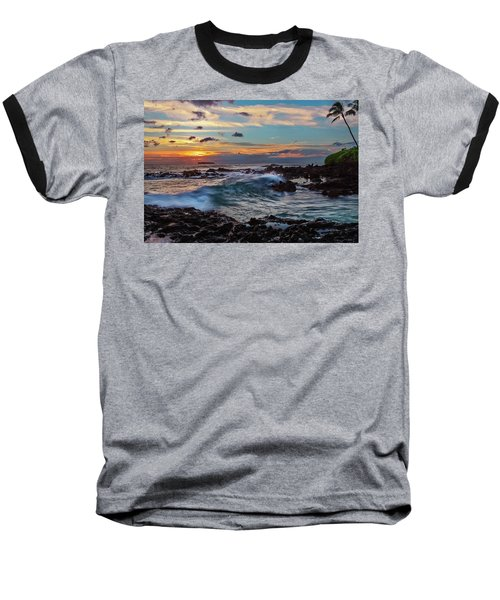 Maui Sunset At Secret Beach Baseball T-Shirt